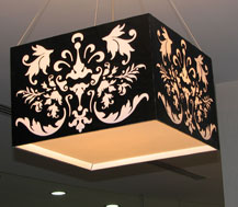 laser cut hanging lamp shade