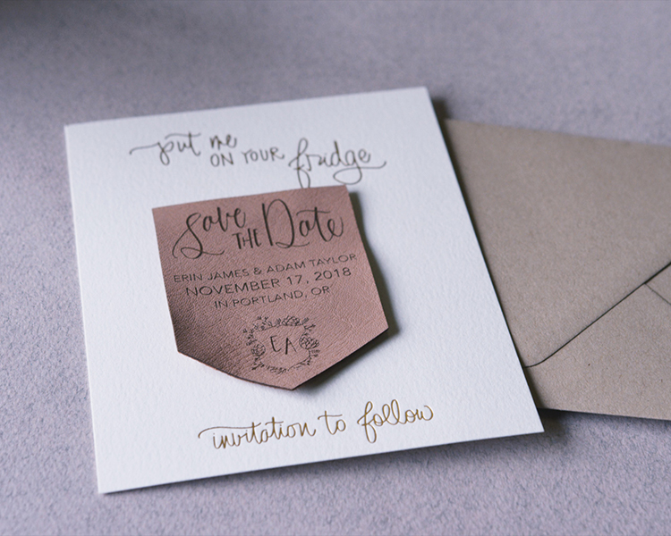 Laser Cut and Engraved Wedding Invitation by Paper Sushi