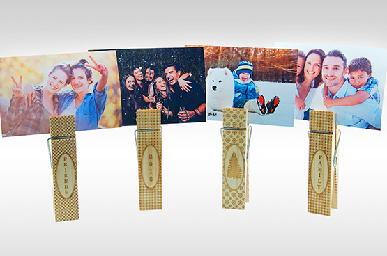 engraved clothespin photo holders