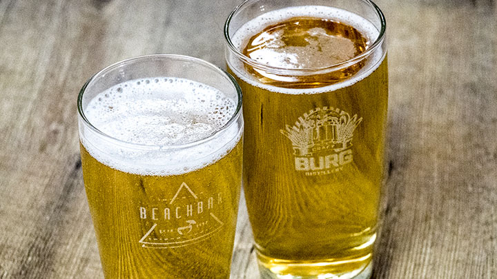 custom laser engraved pint glasses